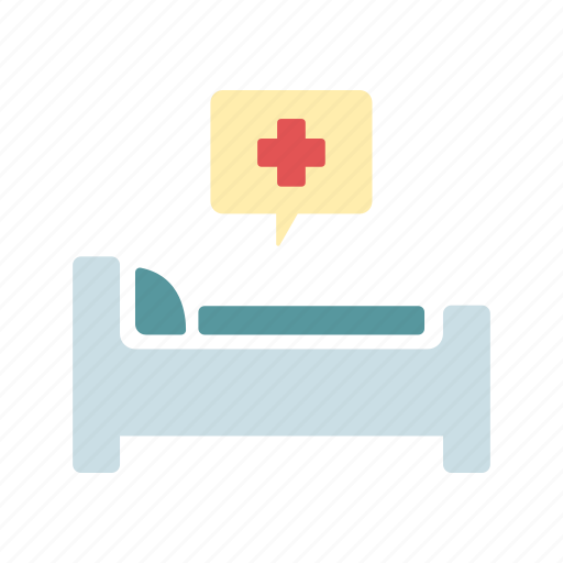 health care, hospital bed, infirmary, medical, patient icon