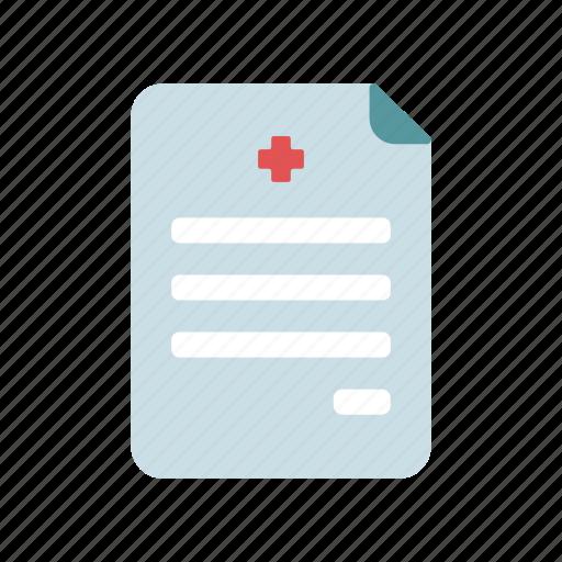 diagnose, health care, medical document, notes, prescription icon