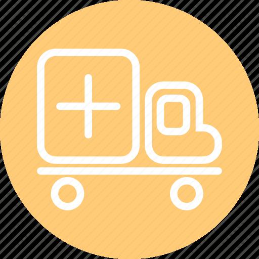 ambulance, ambulance icon, emergency, hospital truck, truck icon