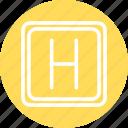 hospital, hospital sign, hospital symbol icon