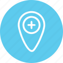 geolocation, hospital, hospital location, location, location marker, map icon