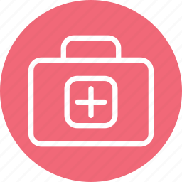 doctor bag, doctor suitcase, hospital, suitcase icon