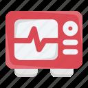 cardiogram, cardiograph, cardiology, electrocardiogram, heartbeat, monitor, pulse icon