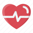 beat, cardiogram, health, heart, heartbeat, medical, pulse icon