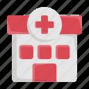 building, clinic, health, healthcare, hospital, medical icon