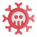 bacteria, corona, coronavirus, fever, influenza, medical, virus icon