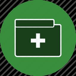 document, file, folder, health, hospital, medical, square icon