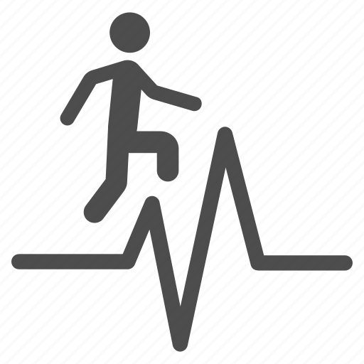 cardio, cardiogram, chart, ecg, heart pulse, heartbeat, test icon