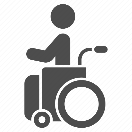 disability, disable, disabled person, handicap, invalid, wheel chair, wheelchair icon