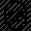dead, late, skull icon