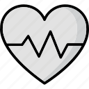 heart rate, heartbeat, lifeline, pulsation, pulse rate icon