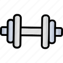 barbell, bodybuilding, dumbbell, fitness, halteres icon