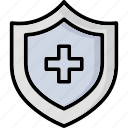 health protection, healthcare, hospital care, medical care, medical shield, shield icon