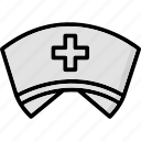 nurse, nurse cap, nurse clothing, nurse uniform, v nurse hat icon