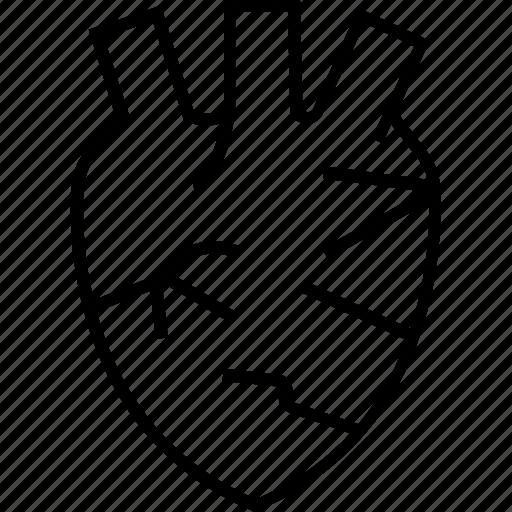 cardiovascular, healthcare, heart, human heart, medical, stamina icon icon