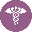 caduceus, healthcare, snake icon