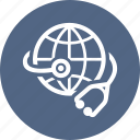 global health, global healthcare, stethoscope icon