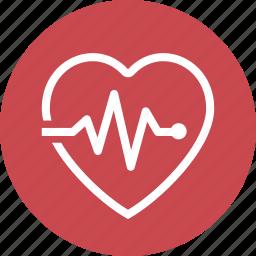 cardiogram, heart care, heart health, pulse icon