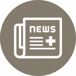 article, medical news, newspaper icon