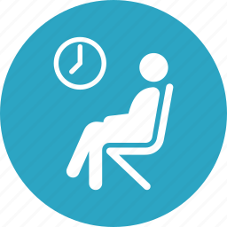 healthcare, hospital, patient, waiting room icon
