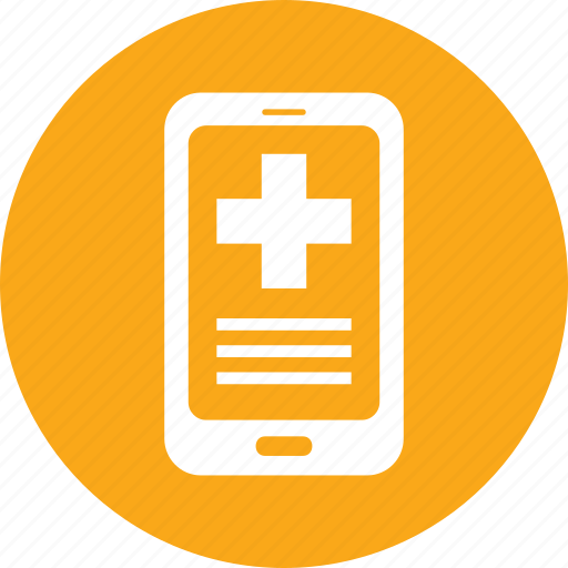 medical question, mhealth, mobile health, online medical help icon
