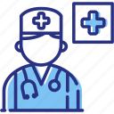doctor consultation, healthcare, medical help icon