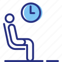 hospital, patient, waiting room icon