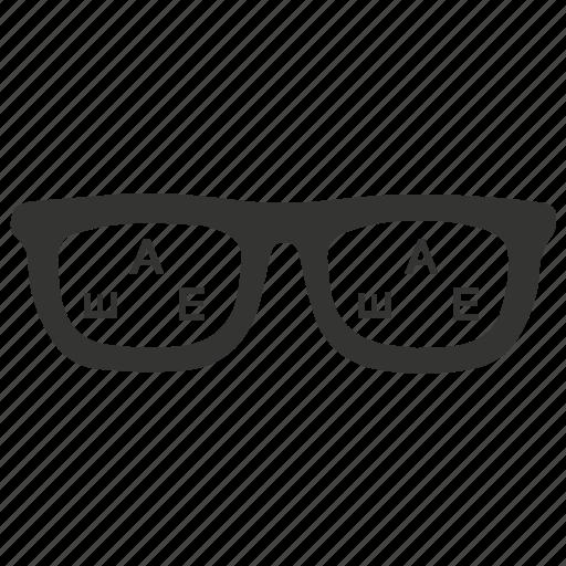 exam, eye, optical, optician, optometrist, test icon