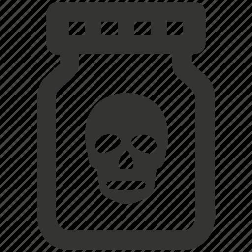 bottle, chemical, danger, dangerous, poison, toxic icon