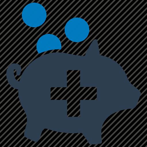 bank, financial, insurance, medical, money, piggy, savings icon