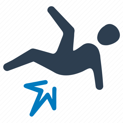 Accident, fall, injury, road, slip icon - Download on Iconfinder