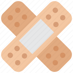 aid, band, injured icon