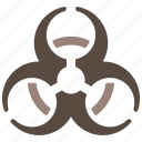 biological, hazard, warning icon