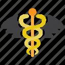 asclepius, caduceus icon