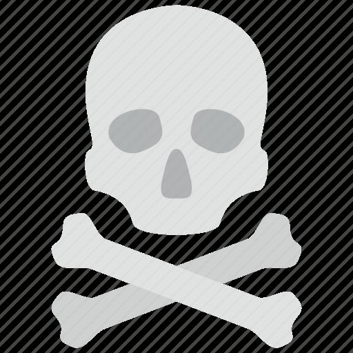 crossbones, pirate, skull icon