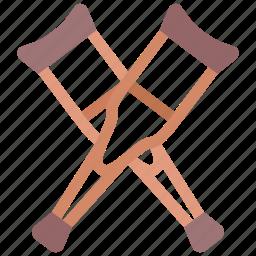 crutch, crutches, leg icon