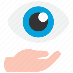 care, eyes, vision icon