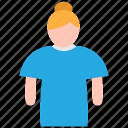 female, patient icon