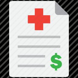 expense, health, insurance icon