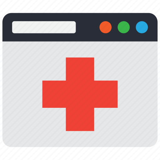 hospital, medical, online, services icon