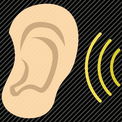 hearing, listen, otology icon