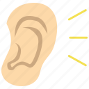 ear, hear, otology icon