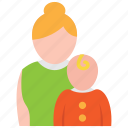 child, mother, pediatrics icon
