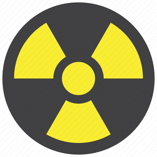 danger, radiation, warning icon