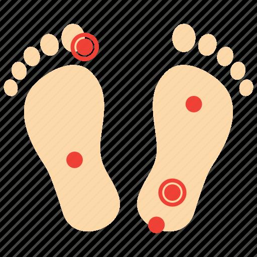 foot, massage, reflexology, therapy icon