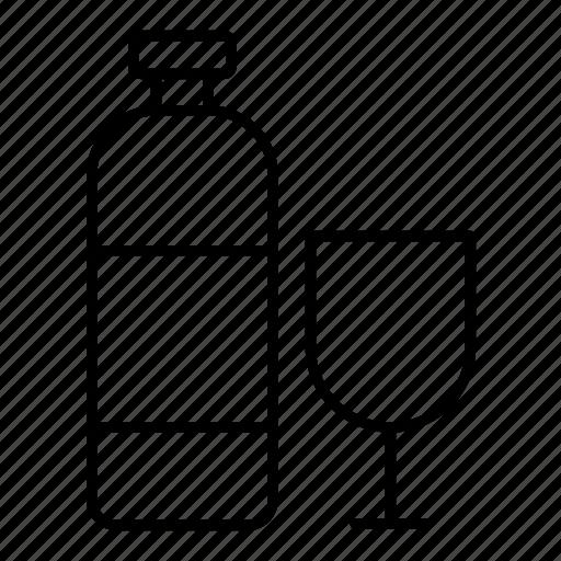 aqua, bottle, drink, glass icon