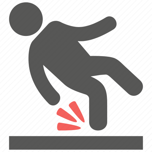 accident, fall down, slip icon