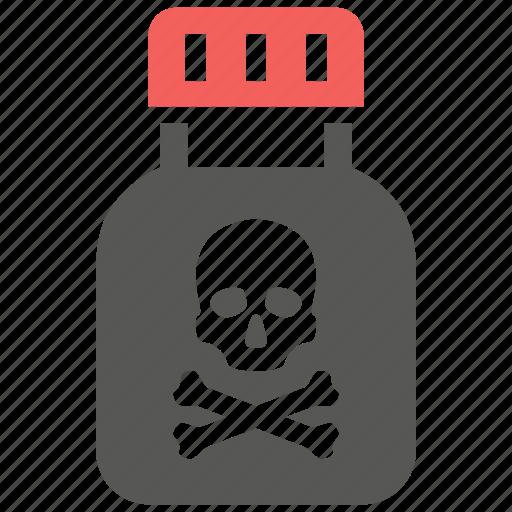 death, drug, poison, poisonous, toxic icon