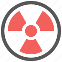 alert, danger, radiation, radioactive, radioactivity, warning icon