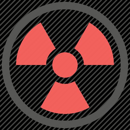 alert, danger, radiation, radioactive, radioactivity, warning icon